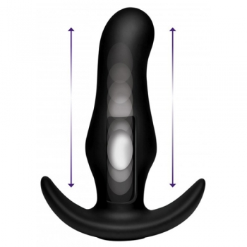 Thump-It Curved Buttplug aus Silikon